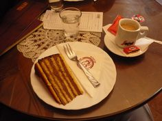 Dobos Torta at Ruszwurm Budapest