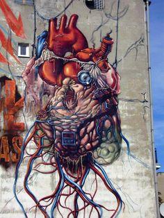 Świetne - Lump – New Mural In Lodz, Poland 2012