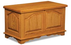 The Cathedral Cedar chest is fully lined in Cedar. Available in a 48