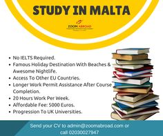 Study in the beautiful mediterranean island of Malta - where the educational system is similar to the UK. LEARN MORE: www.zoomabroad.com