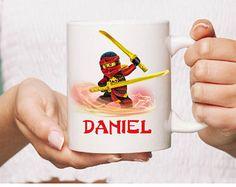 Lego ninjago kai Ceramic Mug Gift Coffee Mug Personalised TCustom tea Cup