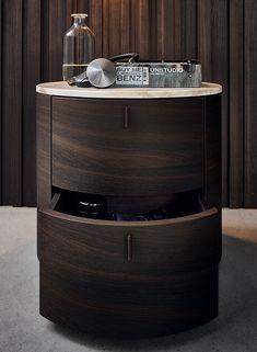 Bedside table / round / contemporary / marble - ONDA - Poliform - Videos
