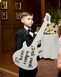 "When you're introduced at the reception, have some one precede you with the guitar saying ""Making it Legal"" (or insert your favorite tongue-in-cheek euphemism about marriage) Ha-ha :)"