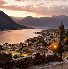 Koto , Montenegro: our next destination next year. At more than 2,000 years old, Kotor is Montenegro's oldest town. Its historic area has narrow streets and stone buildings dating back to that time. Besides the impressive architecture, Kotor's surroundings are also quite idyllic. The town sits near the base of the rugged Mount Lovcen, in a quiet corner of the Bay of Kotor