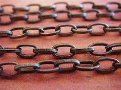 Antique bronze chain.