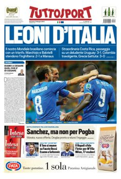 Tuttosport (Italy): Leoni d'Italia (Italian Lions)