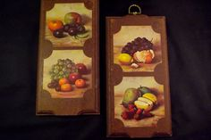 Vintage Kitchen Wall Hangings Plaques Hank by sistersvintageattic