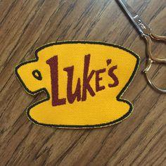 Luke's Diner: Gilmore Girls 3X4inch Sew-on patch by tenyelloweyes