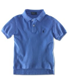 Ralph Lauren Boys' Pique Polo, Boys 8-20 - Scottsdale Blue XL