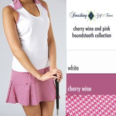Cherry Wine & Pink Herringbone collection at Golf4Her.com | #Golf4Her
