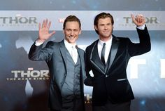 Tom Hiddleston and Chris Hemsworth attend THOR: The Dark Kingdom Germany premiere at CineStar on October 27, 2013 in Berlin, Germany [HQ]