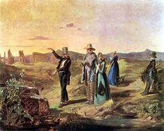 Engländer in der Campagna, Aquarell von Carl Spitzweg, ca. 1845