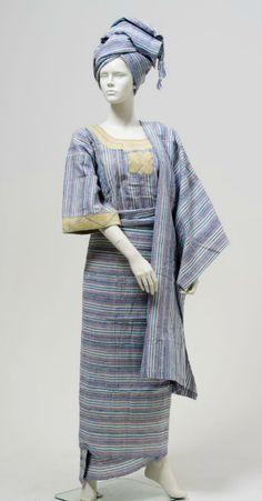 Yoruba women's wedding outfit, 1997, Nigeria.