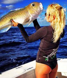 Fishing girl Christine Pulliam