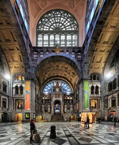 The other side of the wall, Antwerp railway station, Belgium by Batistini Gaston, via Flickr