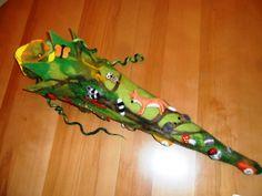 Schultüten - Schultüte gefilzt Wald Fuchs - ein Designerstück von filz-fussel-werkstatt-heidi bei DaWanda