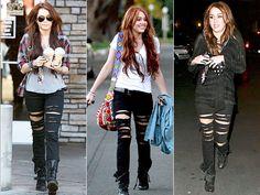 Estilo: Miley Cyrus #clothing #style #fashion #clothes #black #people