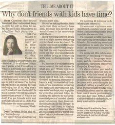 why don't friends with kids have time?  also a great post about what a stay at home mom really does.