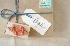 Fragile Hand-Drawn Calligraphy Rubber Stamp от MintAfternoon
