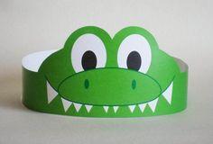 Gator Paper Crown – Printable   Crafts and Worksheets for Preschool,Toddler and Kindergarten