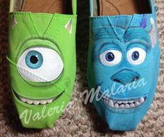 Monsters+TOMS+shoes+by+ValeriaMalariaArt+on+Etsy,+$140.00