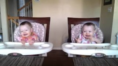 Take a very seconds to smile....11 Month Old Twins Dancing to Daddy's Guitar, via YouTube.