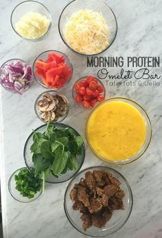 morning protein omelet bar