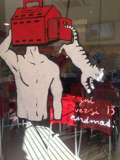 ANDREA MADALENA per VETRINE DIVERSE @ DISEGNI DIVERSI IIed http://www.disegnidiversi.com/news/vetrine-diverse-live-painting/