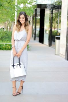 Grey Shein Jumpsuit, Steve Madden Heels and Charming Charlie Purse Style The Girl