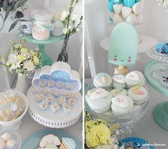 CLOUDS & ICE CREAM! Baptism Party Ideas   Photo 2 of 10
