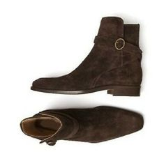 Handmade Jodhpurs for mens. Mens Brown Boots, Mens Suede Boots, Black Leather Chelsea Boots, Dark Brown Boots, Brown Leather Ankle Boots, Suede Leather, Soft Leather, Ankle Combat Boots, Chelsea Shoes