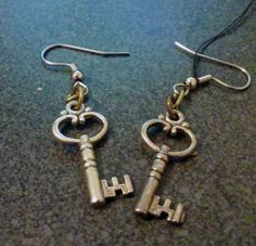 Unlock your ear lobes today! These earrings are a wonderful addition to any steampunk outfit. Please give approximately 1 week for the product to ship.