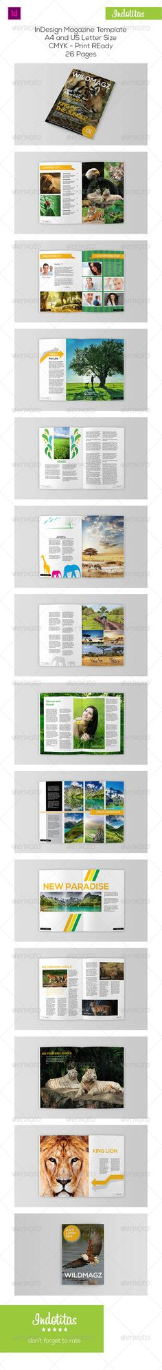 Animal Magazine Template by indotitas Latest InDesign Magazine Template by Indotitas :Professional InDesign magazine template that can be used for any type of industry