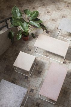 Serax tables with Terrazzo tabeltop