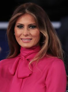 Melania Trump's Blouse Could Be Subtly Shading Her Husband+#refinery29