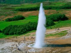 Geysir in Bláskógabyggð. The one and only Geysir, where the name comes from.