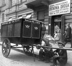 Warsaw, Poland, The funeral home and a hearse belonging to the Hevra Kaddisha (Jewish burial society), 19/09/1941​.