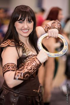 Xena, WonderCon 2013 Day 3 by The.Erik.Estrada, via Flickr - omg this photo made me realize I already have the perfect hair to cosplay Xena! I never considered her before!