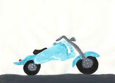 foot print motorcycle