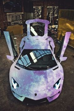 Lamborghini-- galaxy paint