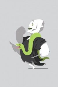 Even Villains Get Happy About Fridays! Voldemort and Nagini (Harry Potter) art.