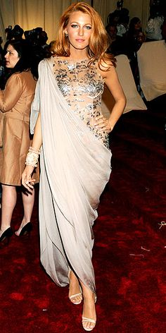 Blake in a unique draped look... second try! #blakelively #socialblissstyle
