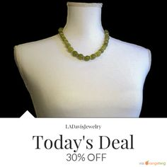 Today Only! 30% OFF this item.  Follow us on Pinterest to be the first to see our exciting Daily Deals. Today's Product: Deal Of The Day - Real Graduated All Natural Olive Green New Jade Gemstone & Golden Byzantine Chainmaille Necklace - Handmade in the USA Buy now: https://www.etsy.com/listing/291301399?utm_source=Pinterest&utm_medium=Orangetwig_Marketing&utm_campaign=Deal%20of%20the%20Day%20-   #etsy #etsyseller #etsyshop #etsylove #etsyfinds #etsygifts #musthave #loveit #instacool #shop…