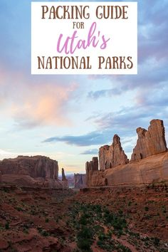 Our Utah packing guide covers all the essential packing tips for those looking to immerse themselves in the raw, natural beauty of Utah's National Parks! #utahtravel #usatraveltips #packingtips