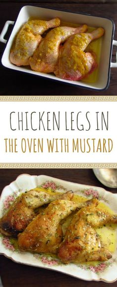 Chicken legs in the oven with mustard | Food From Portugal. Want to prepare a simple recipe in the oven? This chicken legs recipe is delicious, has few ingredients, excellent presentation and the mustard mixed with the spices gives it a special touch! #recipe #chicken #oven #mustard