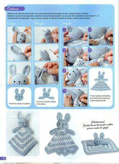Mesmerizing Crochet an Amigurumi Rabbit Ideas. Lovely Crochet an Amigurumi Rabbit Ideas. Crochet Security Blanket, Crochet Lovey, Crochet Baby Toys, Crochet Rabbit, Crochet Teddy, Crochet Amigurumi, Crochet Doll Pattern, Crochet For Kids, Crochet Dolls
