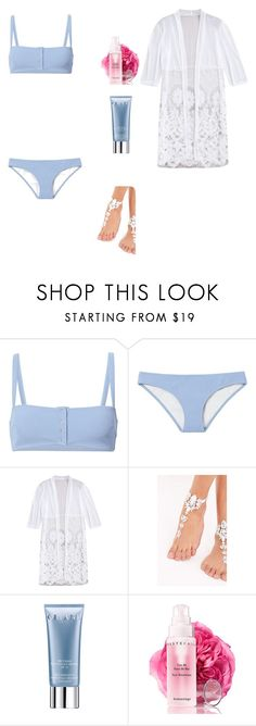 """Baby Blue"" by lemonsandroses on Polyvore featuring Solid & Striped, Orlane and Chantecaille"