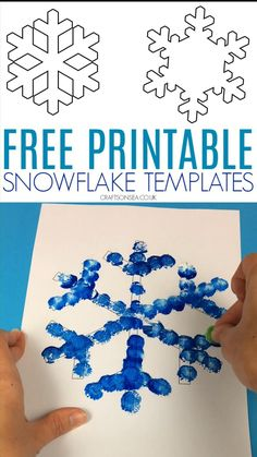 This printable snowflake template is perfect for winter crafts for kids and we have lots of easy snowflake crafts to show you how to use it too.