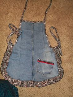 UPCYCLED+JEAN+APRON+by+HisPaisleyQueen+on+Etsy,+$20.00