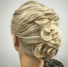 Deconstructed fishtail updo by Letitia Booth